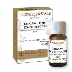 Origano-Timo-Santoreggia Olio Essenziale 10 ml - Dr....